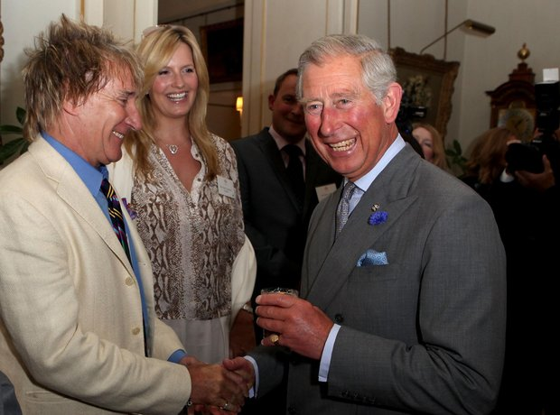 Rod Stewart and Prince Charles