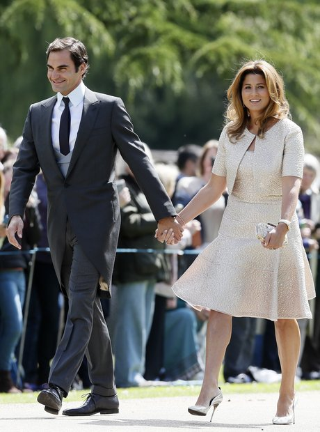 Roger Federer at Pippa Middleton's wedding