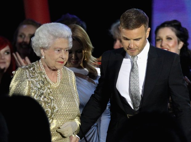 Gary Barlow and the Queen