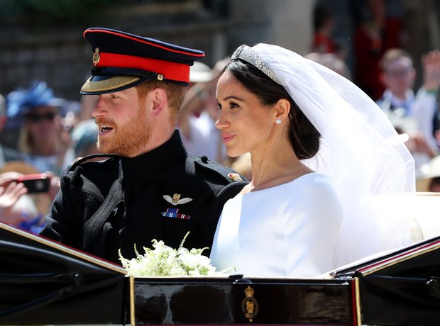 Prince Harry and Meghan Markle leave St George's C