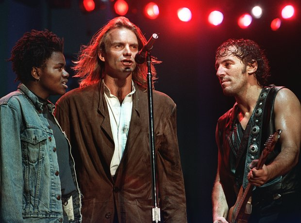 Tracy Chapman, Sting and Bruce Springsteen