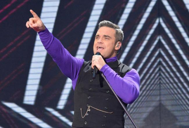 Robbie Williams on X Factor