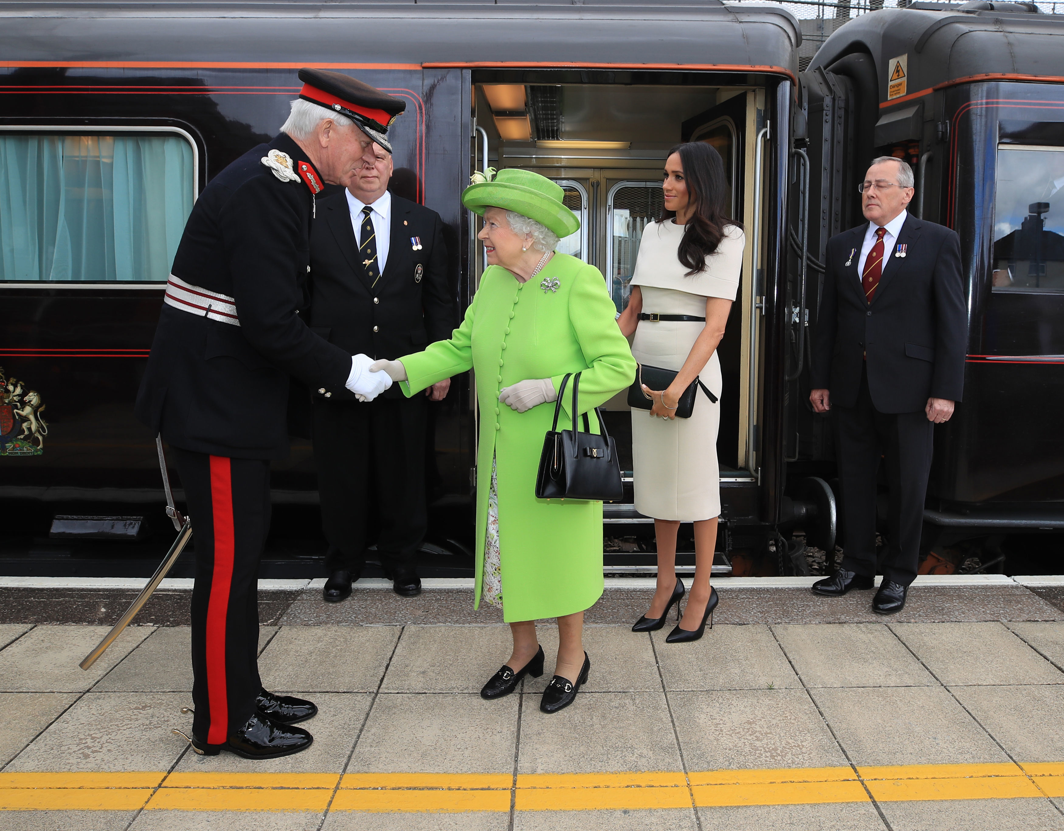 The Queen and Meghan Markle visit Cheshire